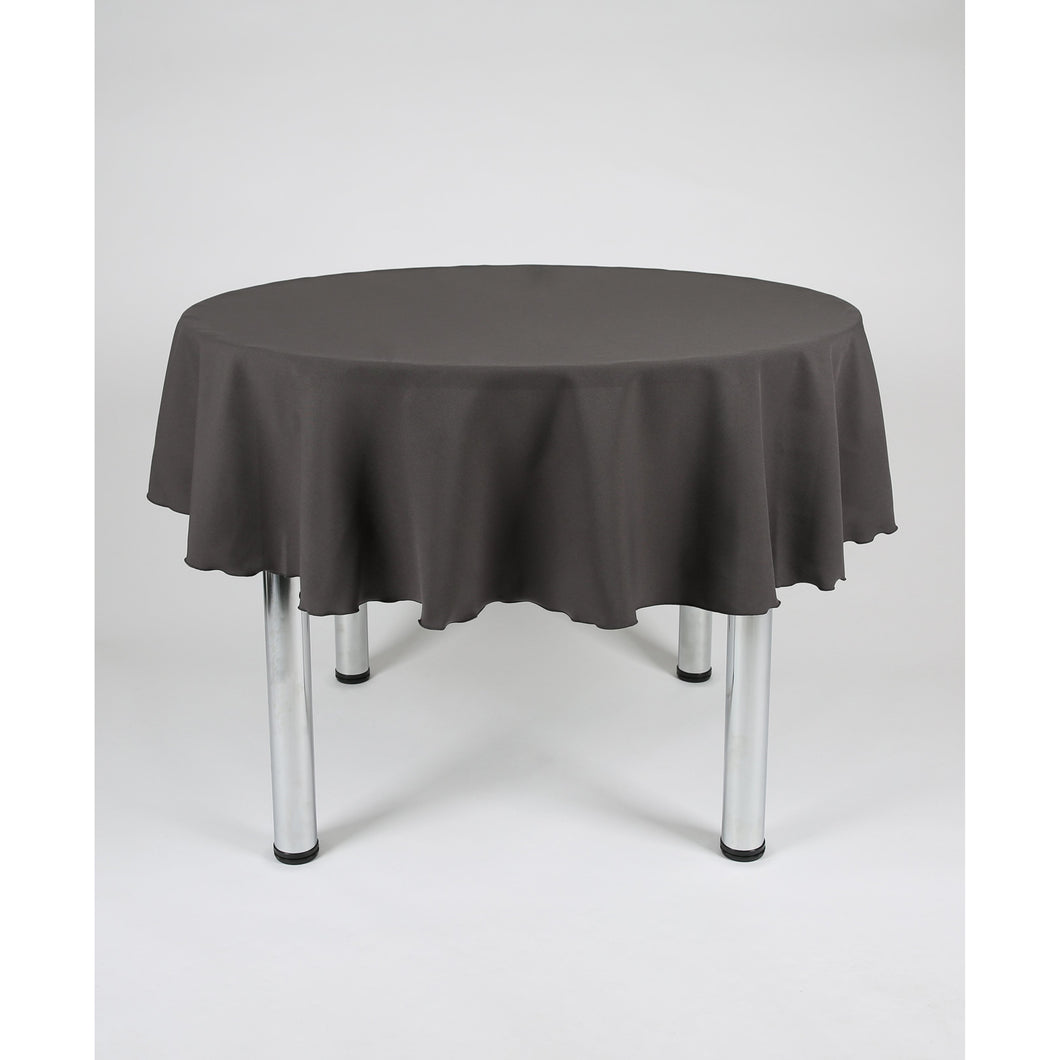 Dark Grey Round Polyester Fabric Table cloth