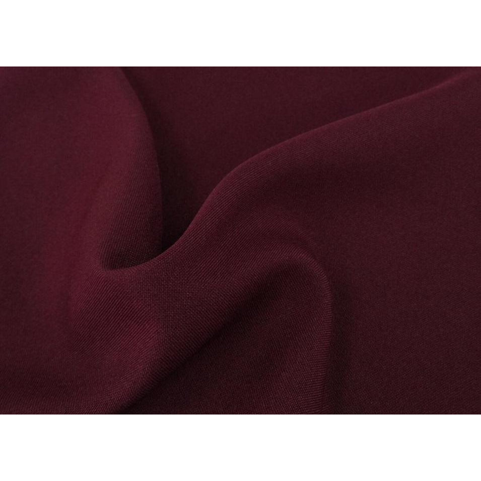 Dark Burgundy Bi-Stretch Polyester Suiting Fabric - By the metre
