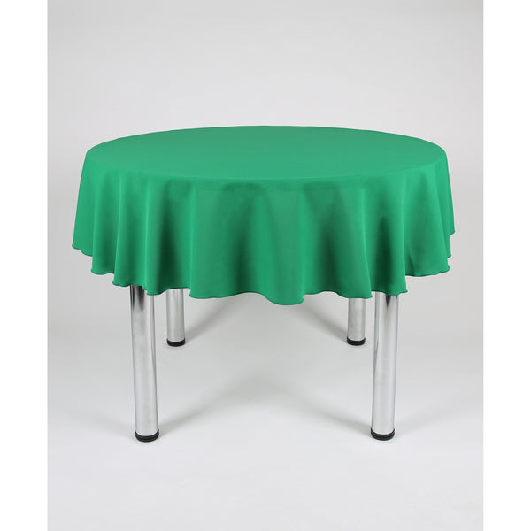 Emerald Green Round Polyester Fabric Table cloth - Extra Wide