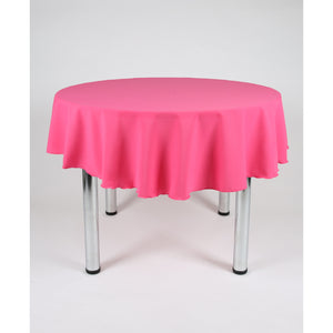 Cerise Bright Pink Round Polyester Fabric Table cloth