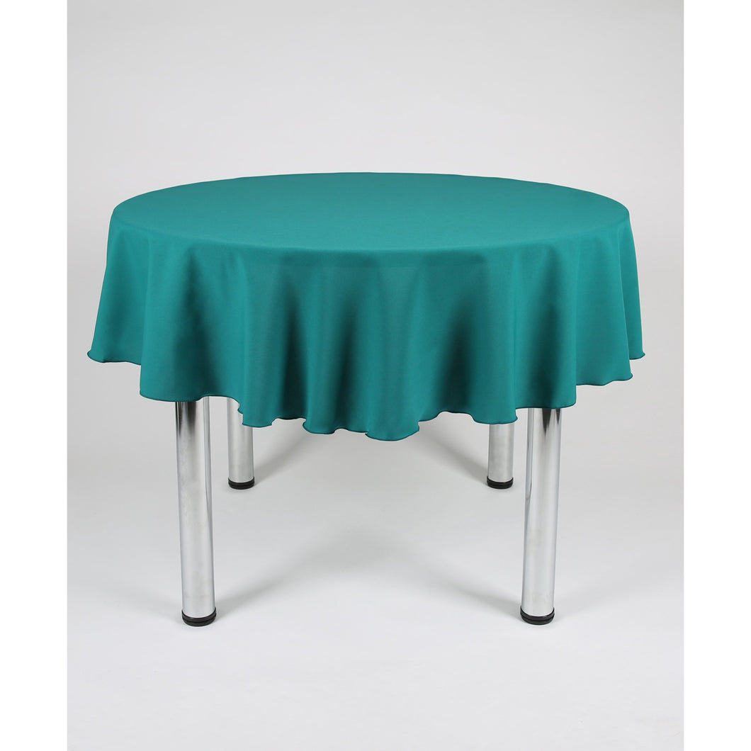 Jade Green Round Polyester Fabric Table cloth - Extra Wide Suitable for weddings, parties, christenings.