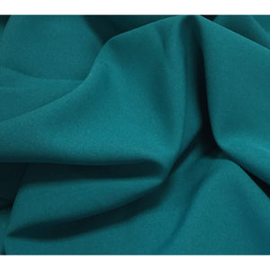 Jade Green Bi-Stretch Polyester Suiting Fabric - By the metre