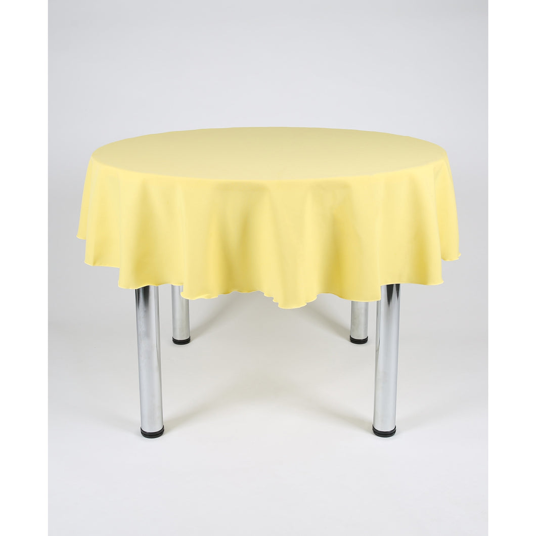 Lemon Round Polyester Fabric Tablecloth