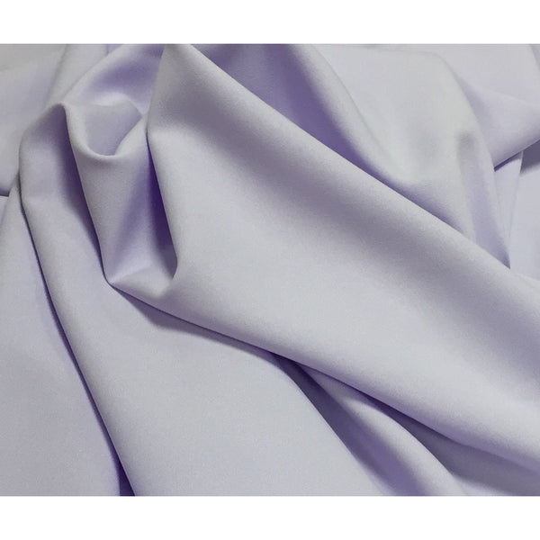 Lilac Bi-Stretch Polyester Suiting Fabric - By the metre