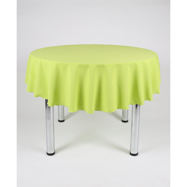 Lime Green Round Polyester Fabric Table cloth