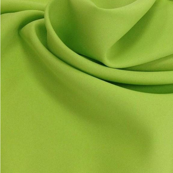Lime Green Bi-Stretch Polyester Suiting Fabric - By the metre