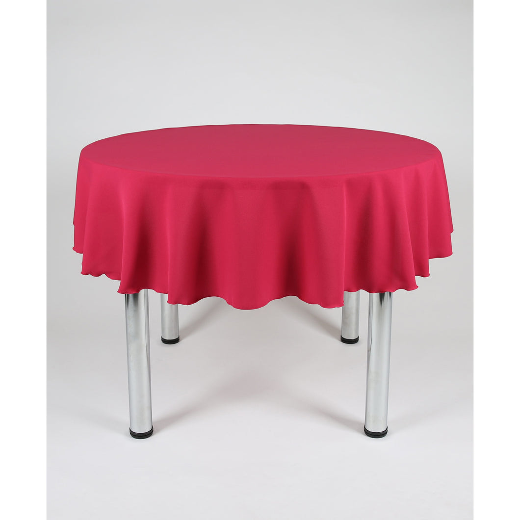 Magenta Round Polyester Fabric Table cloth - Extra Wide Suitable for weddings, parties, christenings.
