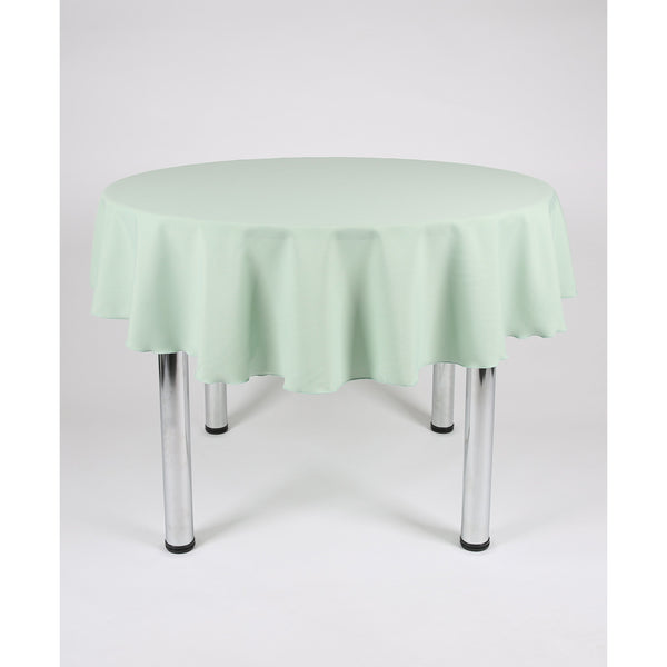 Mint Green Round Polyester Fabric Table cloth - Extra Wide