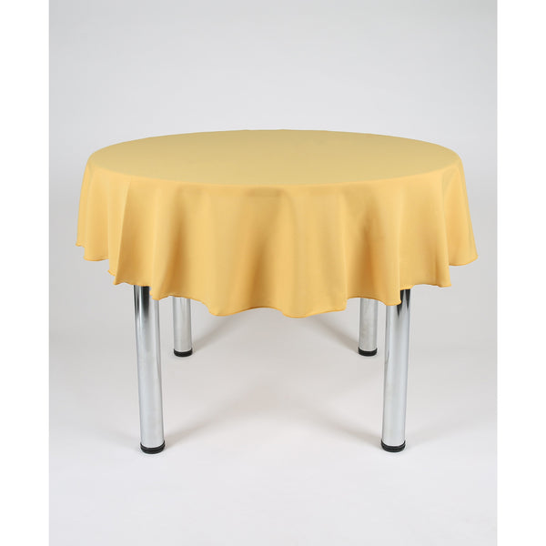 Mustard Round Polyester Fabric Table cloth - Extra Wide