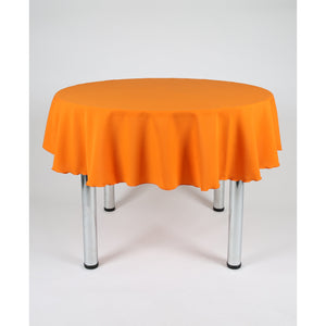 Orange Round Polyester Fabric Table cloth