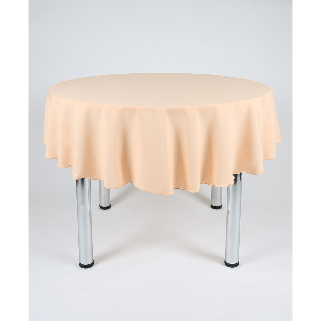 Peach Round Polyester Fabric Table cloth - Extra Wide Suitable for weddings, parties, christenings