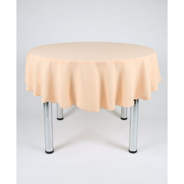 Peach Round Polyester Fabric Table cloth