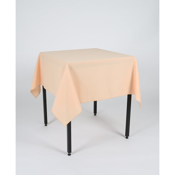 Peach Polyester Fabric Table cloth - Extra Wide