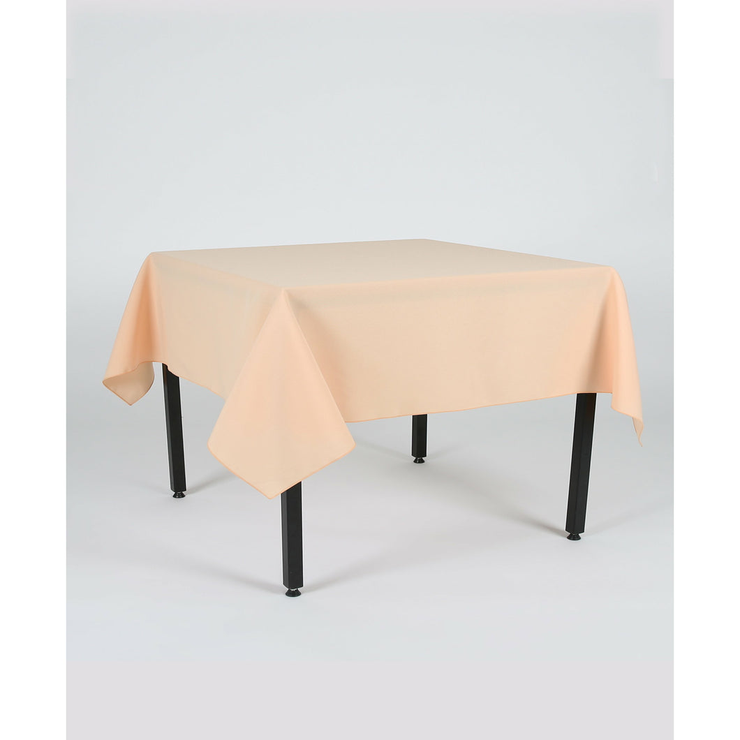 Peach Rectangle Polyester Fabric Table cloth
