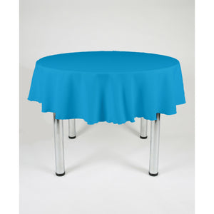 Peacock Blue Round Polyester Fabric Table cloth - Extra Wide Suitable for weddings, parties, christenings