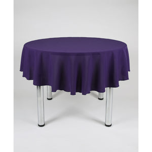 Purple Round Polyester Fabric Table cloth