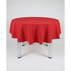 Red Round Polyester Fabric Table cloth - Extra Wide Suitable for weddings, parties, christenings