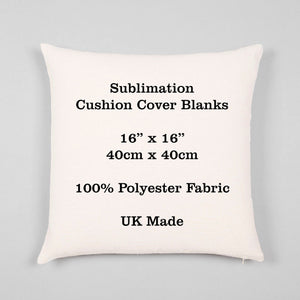 "Sublimation Cushion Cover Blank - 100% Polyester 16"" / 40cm Transfer Heat Press"