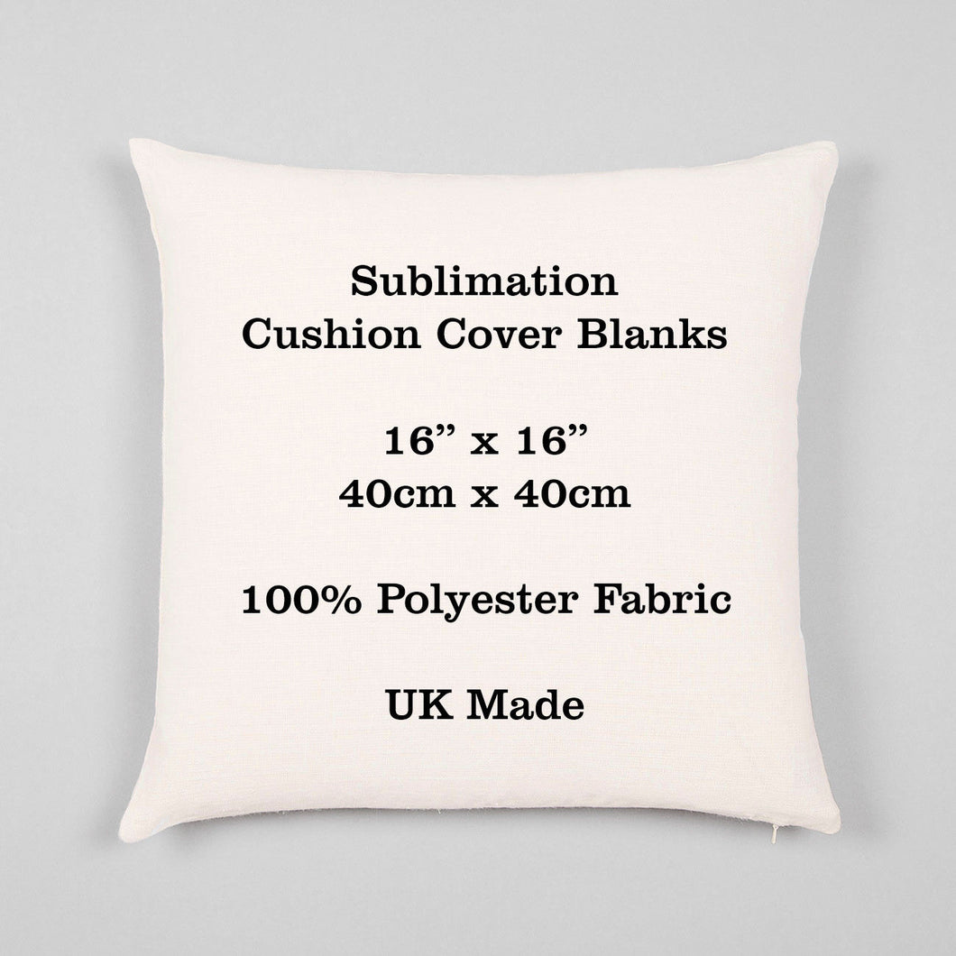 Sublimation Cushion Cover Blank - 100% Polyester 16