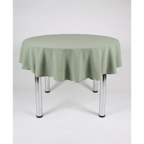 Sage Green Round Polyester Fabric Tablecloth