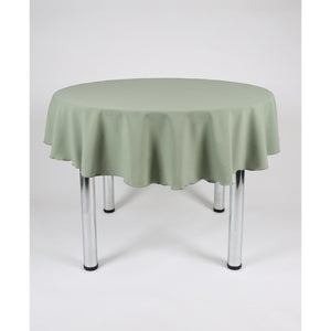 Sage Green Round Polyester Fabric Tablecloth - Extra Wide Suitable for weddings, parties, christenings