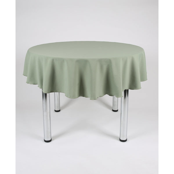 Sage Green Round Polyester Fabric Table cloth - Extra Wide