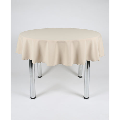 Stone Round Polyester Fabric Tablecloth - Extra Wide Suitable for weddings, parties, christenings.