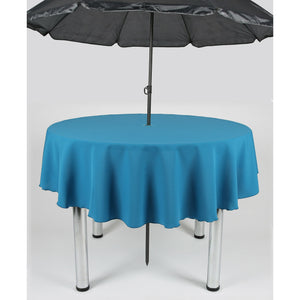 Teal Round Polyester Fabric Garden Patio Table cloth