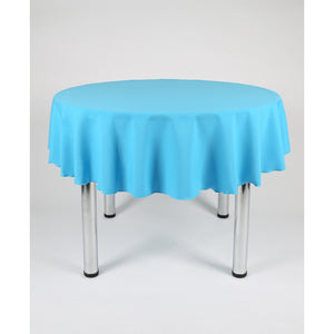 Turquoise Round Polyester Fabric Table cloth