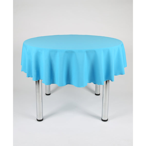 Turquoise Round Polyester Fabric Table cloth - Extra Wide Suitable for weddings, parties, christenings
