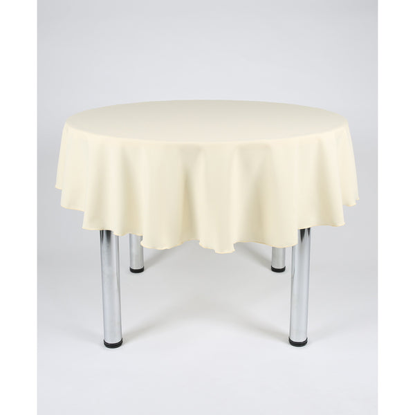 Vanilla Round Polyester Fabric Table cloth - Extra Wide Suitable for weddings, parties, christenings