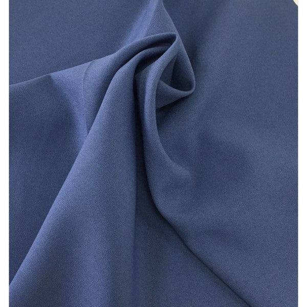 Airforce Blue Bi-Stretch Polyester Suiting Fabric - By the metre