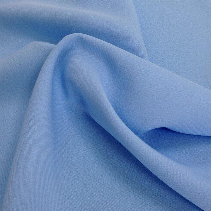 Baby Blue Bi-Stretch Polyester Suiting Fabric - By the metre