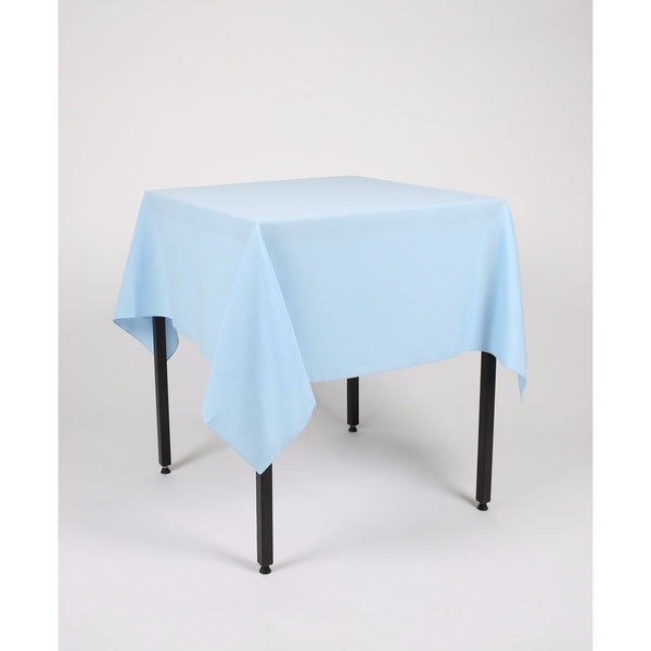 Baby Blue Square Polyester Fabric Table cloth - Extra Wide