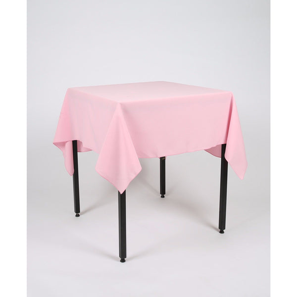 Baby Pink Square Polyester Fabric Table cloth - Extra Wide  Suitable for weddings, parties, christenings.