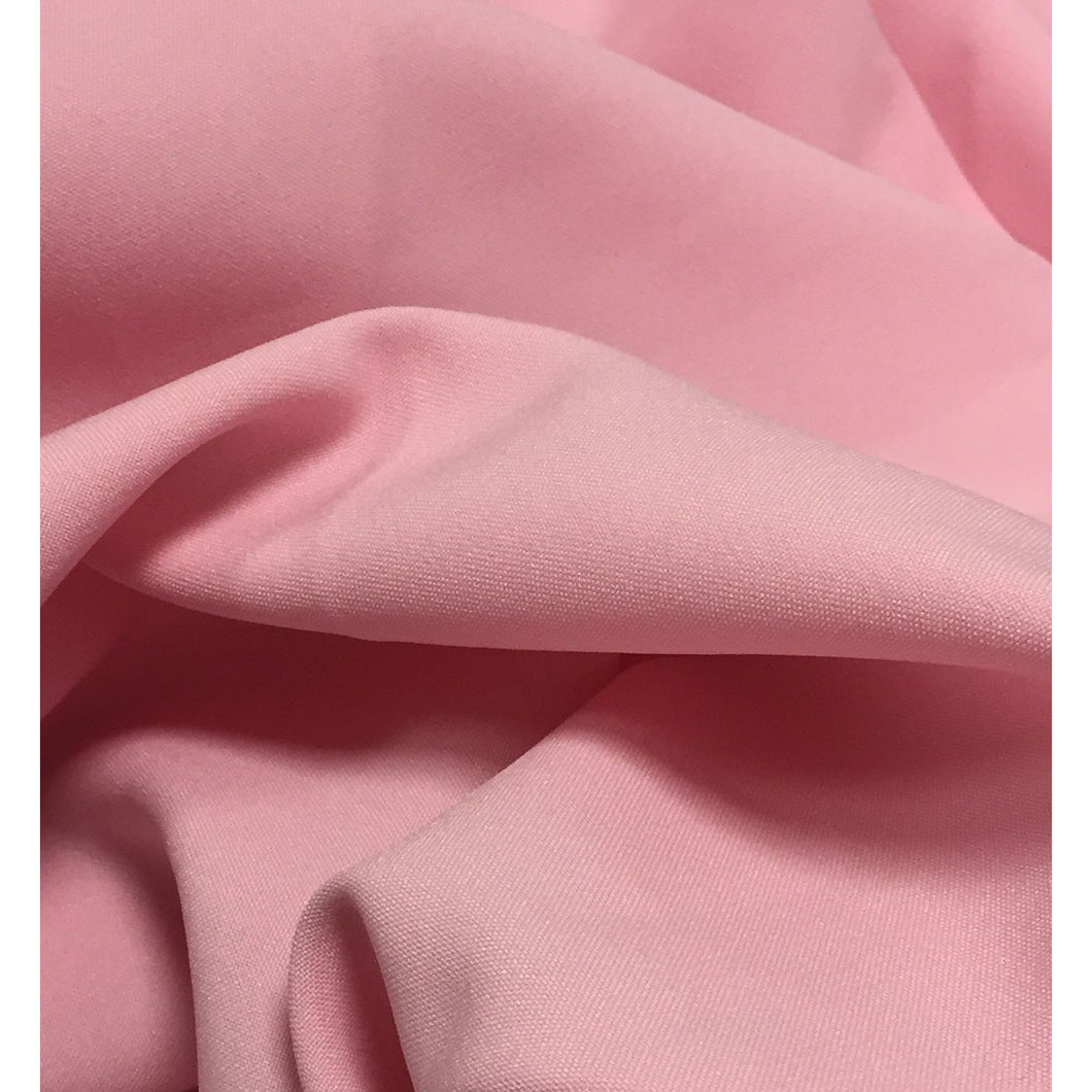 Baby Pink Bi-Stretch Polyester Suiting Fabric - By the metre