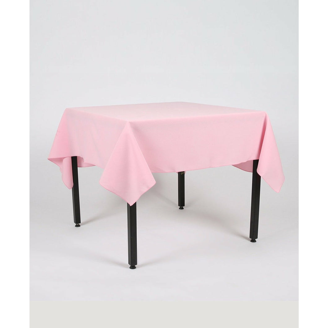 Baby Pink Rectangle Polyester Fabric Table cloth