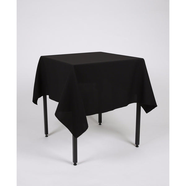 Black Square Polyester Fabric Table cloth - Extra Wide Suitable for weddings, parties, christenings.