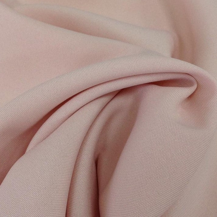 Blush Pink Bi-Stretch Polyester Suiting Fabric - By the metre