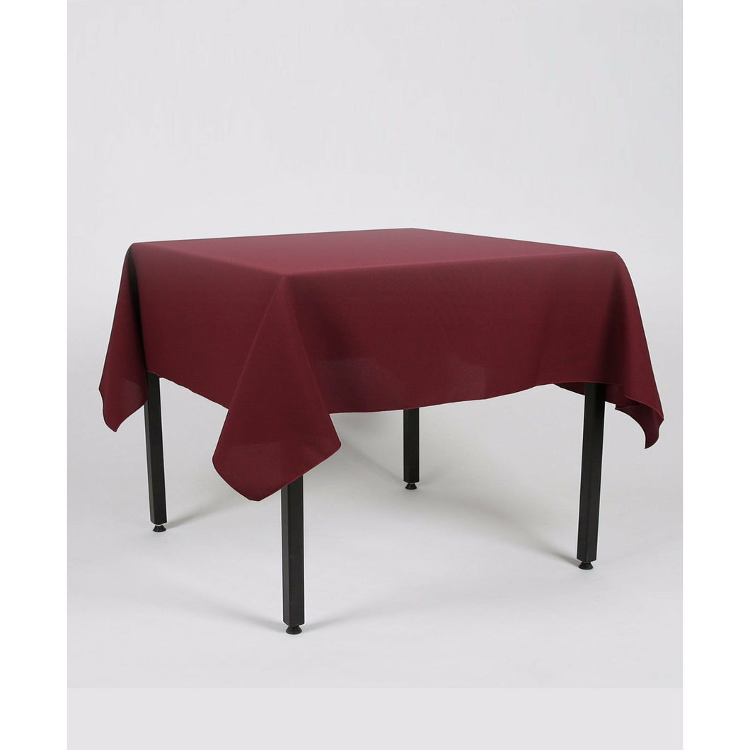 Burgundy Rectangle Polyester Fabric Table cloth