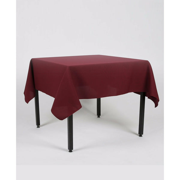 Burgundy Rectangle Polyester Fabric Table cloth - Pub Style Tables