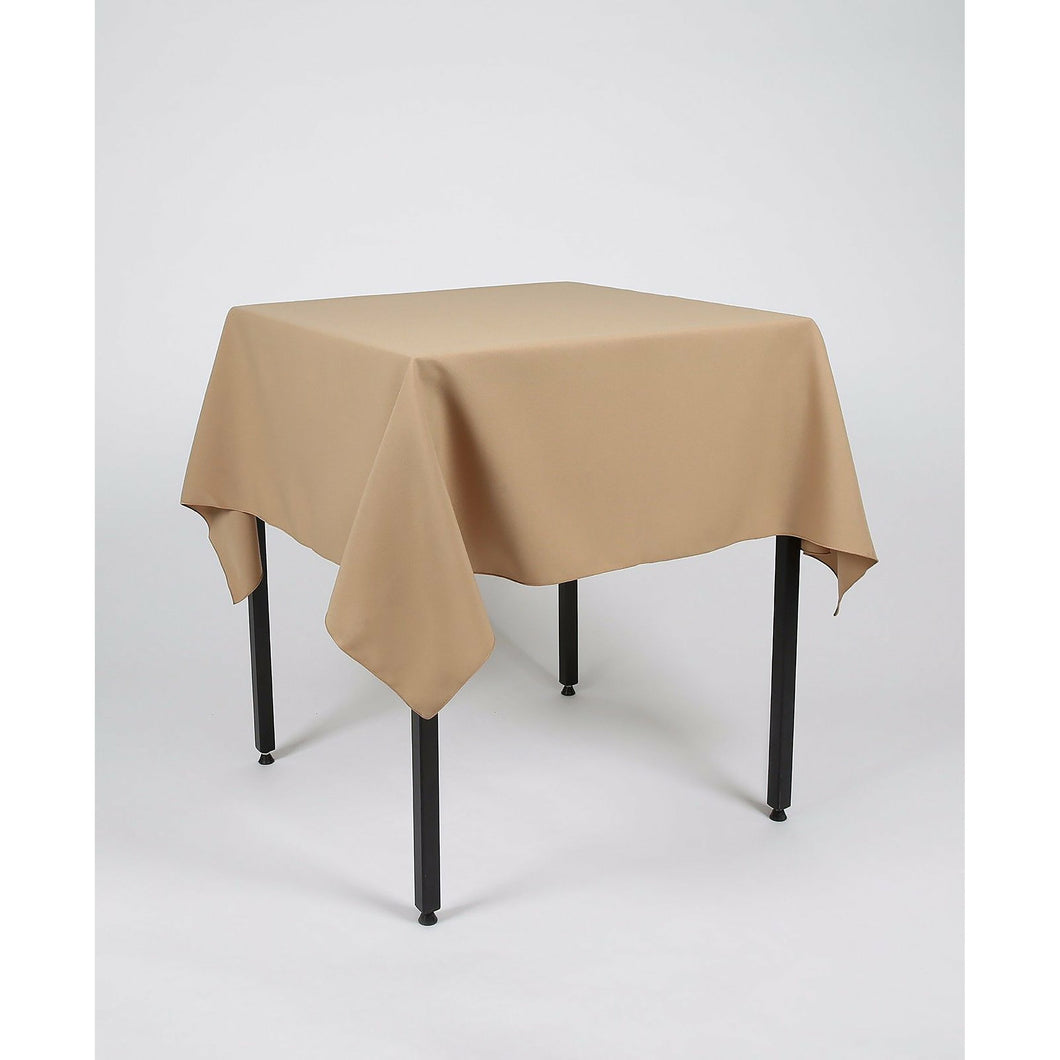 Tan Square Polyester Fabric Table cloth