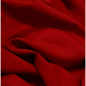Dark Red Bi-Stretch Polyester Suiting Fabric - By the metre