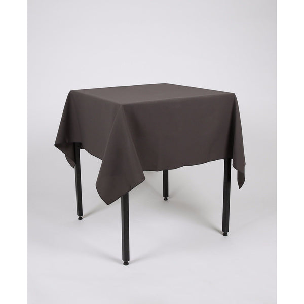 Dark Grey Polyester Fabric Table cloth - Extra Wide