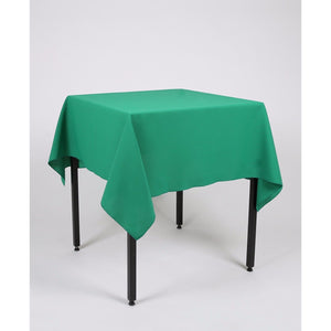Emerald Green Square Polyester Fabric Tablecloth - Extra Wide - Extra Wide. Suitable for weddings, parties, christenings.