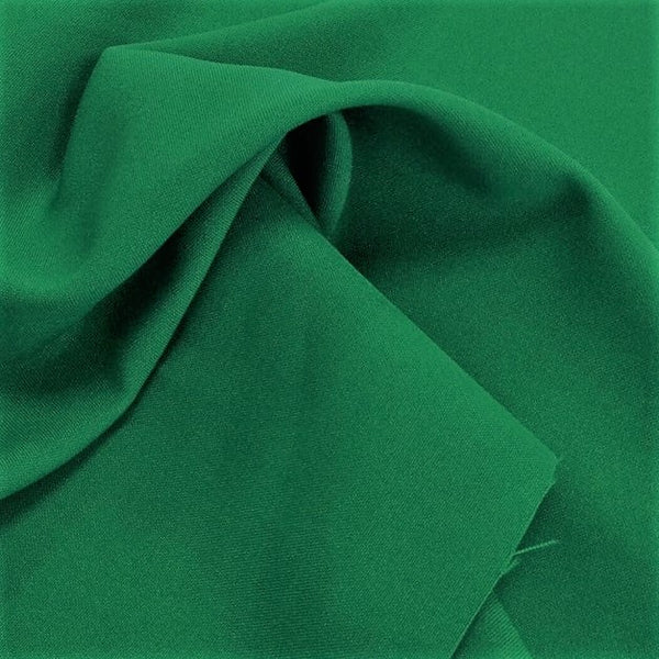 Emerald Green Bi-Stretch Polyester Suiting Fabric - By the metre