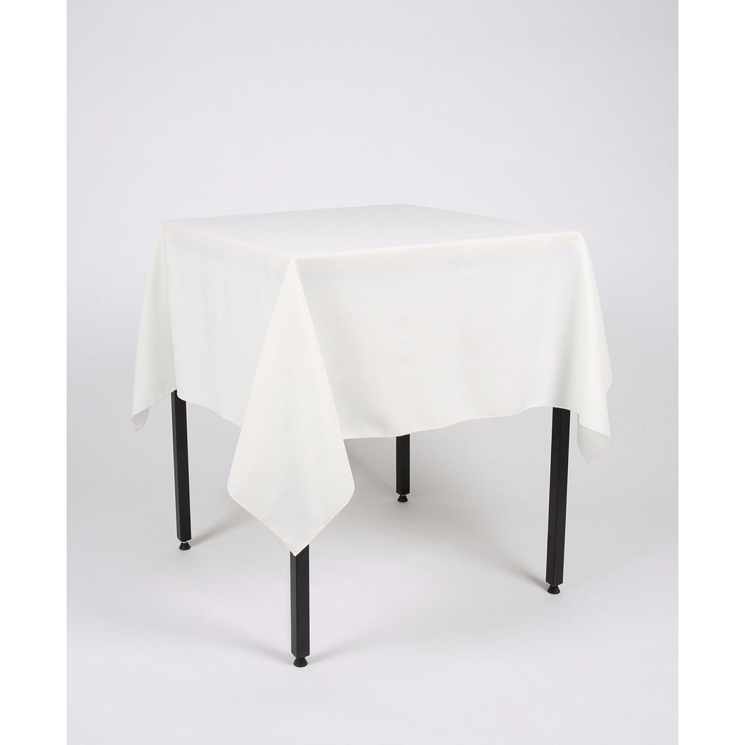 Ivory Square Polyester Fabric Table cloth - Extra Wide Suitable for weddings, parties, christenings.