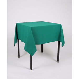Jade Green Square Polyester Fabric Table cloth - Extra Wide Suitable for weddings, parties, christenings.