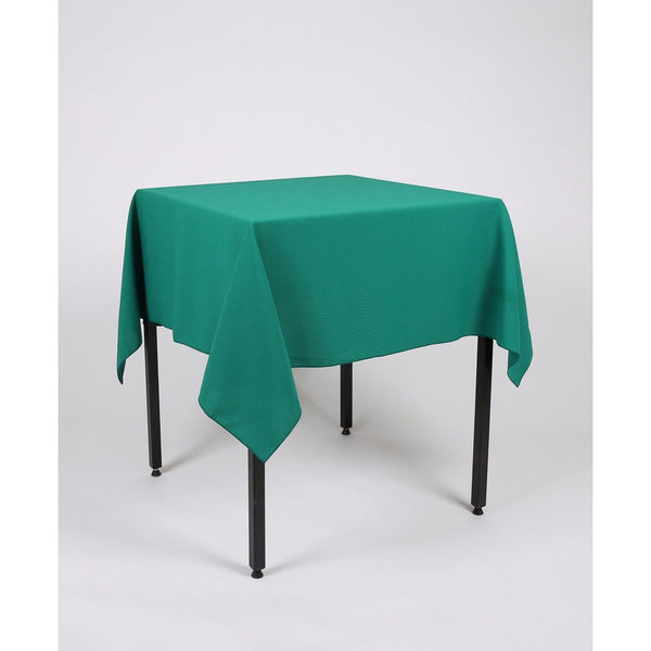 Jade Green Square Polyester Fabric Table cloth - Extra Wide