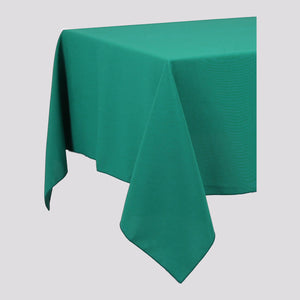 Jade Green Rectangle Polyester Fabric Table cloth - Pub Style Tables